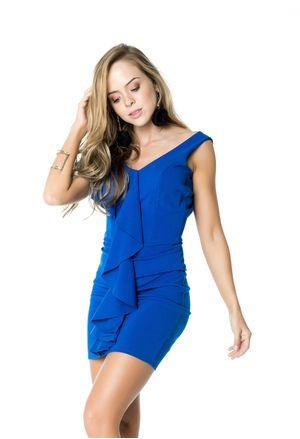 Modelos de vestidos cortos azul rey