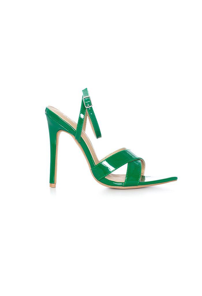punta e341759 en 1 cruzada Sandalia zapatos verde tacón suela capellada O5w8Bgnq