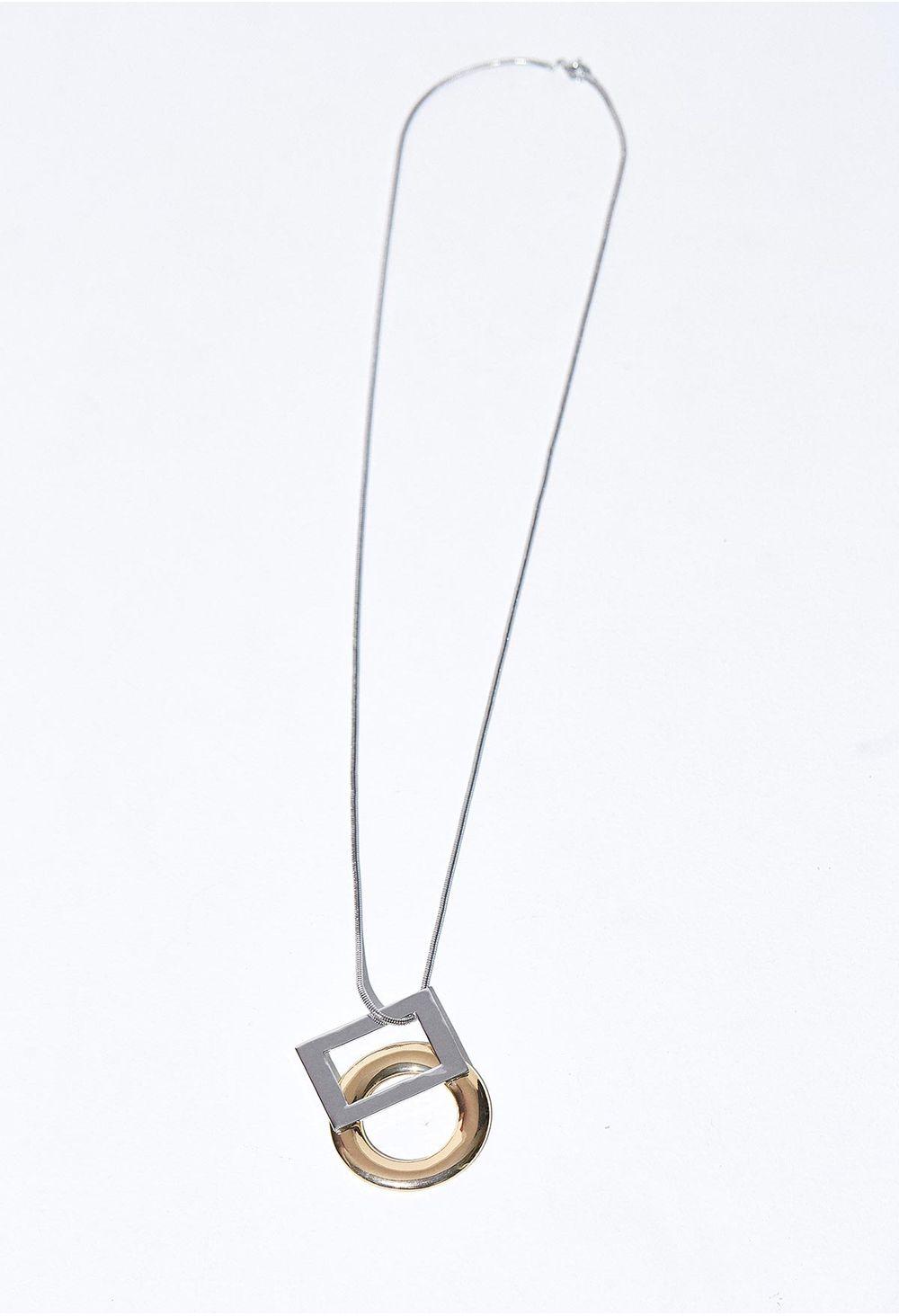 6059edb8e665 Collar Largo Con Dijes Geometricos - ELA