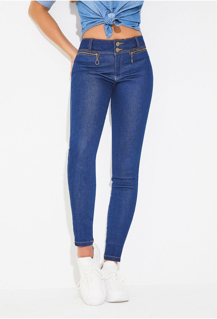 af974f2d8f Jeans skinny con cremalleras frontales
