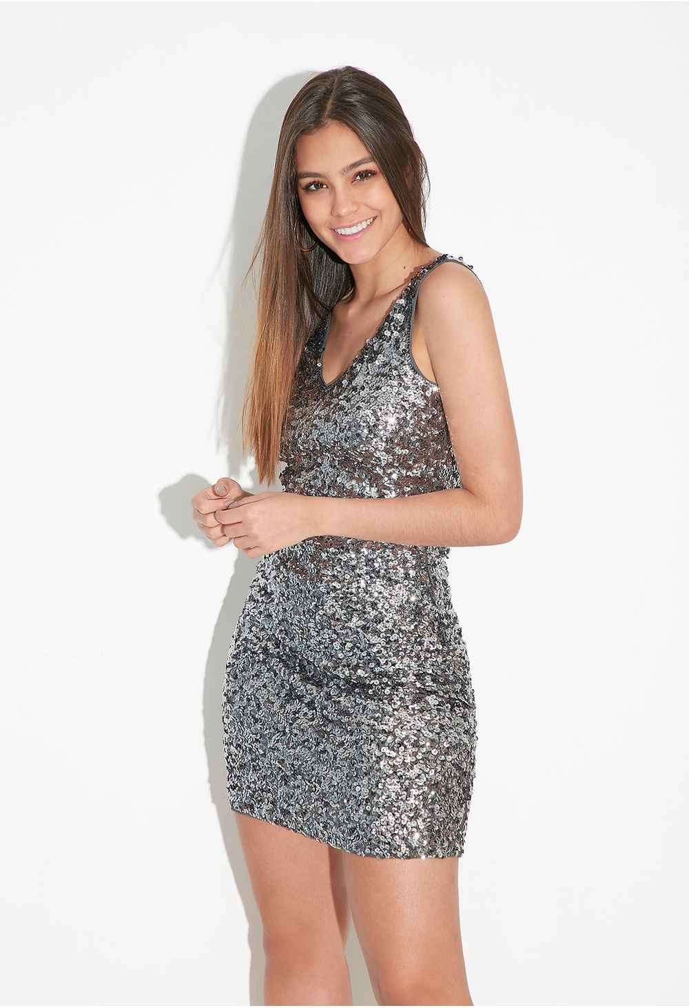 Vestido Corto De Lentejuela